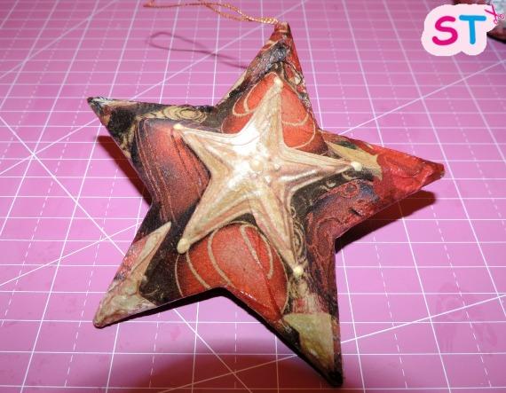 Decoupage con estrellas de Navidad-Scrapeatodo